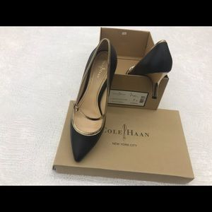 Cole Haan Black and Gold shoe